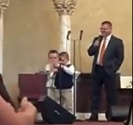 Toddler Sings Anti Gay Song In Church
