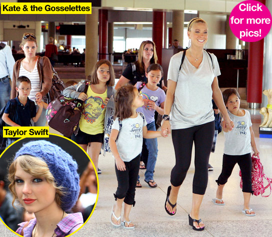Kate Gosselin Her Adorable Eight Meet Taylor Swift At Her New Jersey Concert Hollywood Life