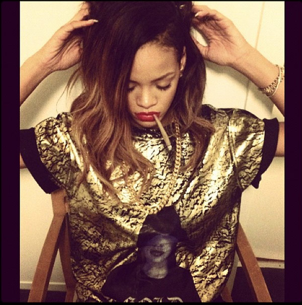 Naked girls and pot Pic Rihanna Smoking Marijuana Posts Instagram Pic With Roll Up Hollywood Life