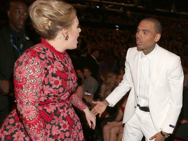 Adele Chris Brown Fight