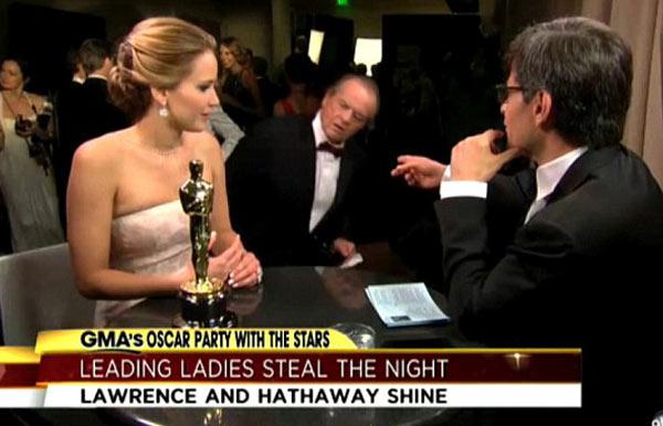 Jack Nicholson Jennifer Lawrence Oscars