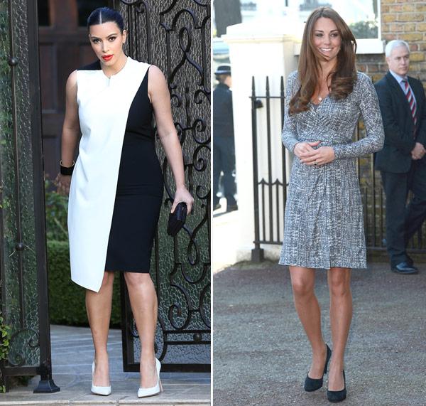 Kim Kardashian Kate Middleton Style