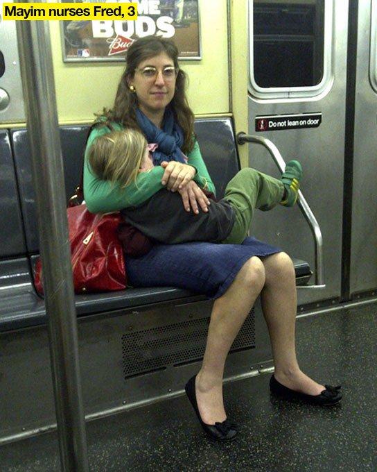Mayim Bialik Breastfeeding