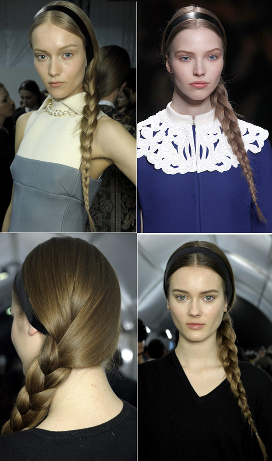 Valentino Braids Paris Fashion Week