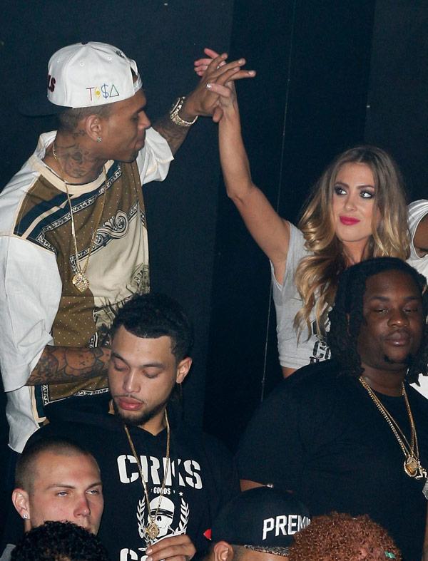 Chris Brown Blonde Girl