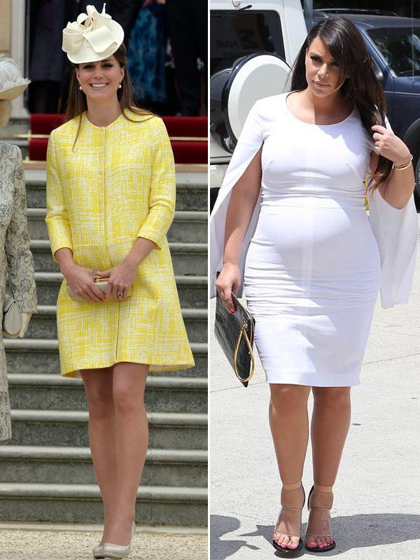 Kate Middleton Kim Kardashian Pregnancy