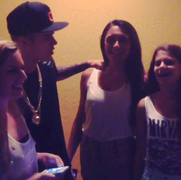 Justin Bieber Flirting