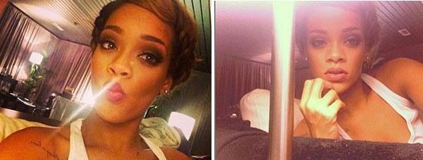 Rihanna's Milk Maid Braids