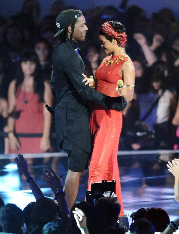 Rihanna ASAP Rocky Kissing