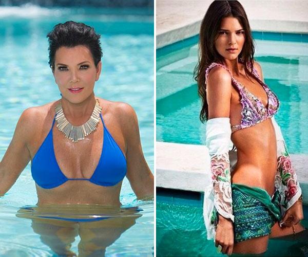 Kris Jenner Kendall Jenner Bikini