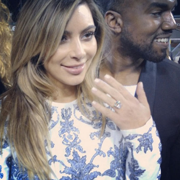 Kim Kardashian Engagement Beauty