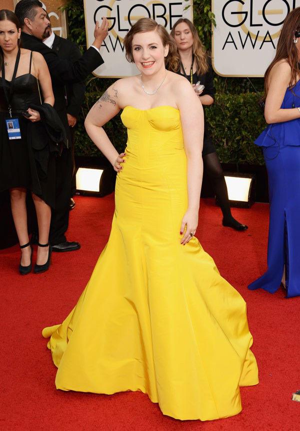 Lena Dunham Golden Globes Dress