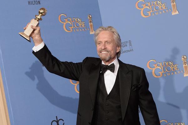 Michael Douglas Golden Globes Catherine Zeta-Jones