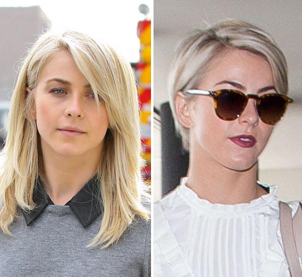 Pics Julianne Hough S Pixie Cut Gets Dramatic Hair Cut Hollywood Life