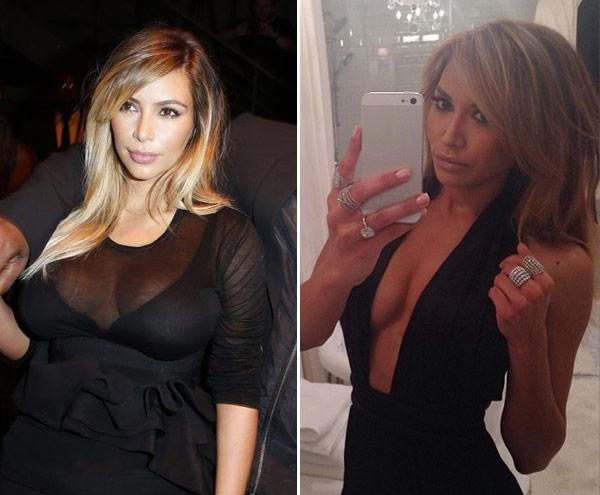 Naya Rivera Kim Kardashian Look Alike