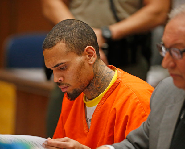Chris Brown Rehab Jail