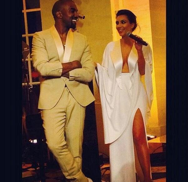 Kim Kardashian Kanye West Wedding Flowers