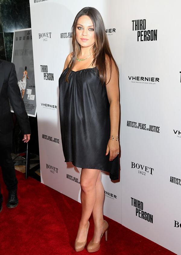 Mila Kunis Pregnant Third Person Premiere