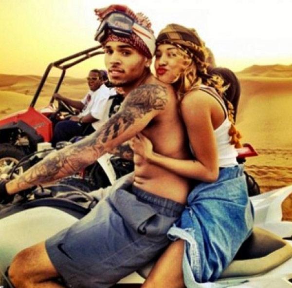 Chris Brown Cuddles Karrueche Tran