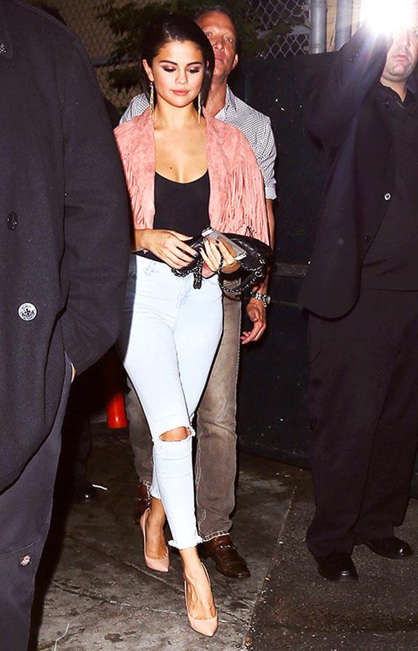 Selena Gomez Cleavage Shirt The Abbey