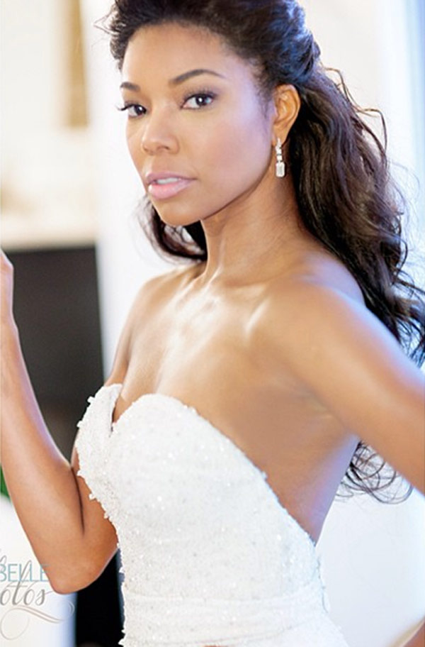 Gabrielle Union S Wedding Beauty Beautiful Hair Makeup On The Bride Hollywood Life