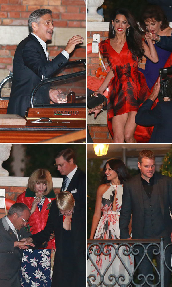 George Clooney Amal Alamuddin Wedding Guests