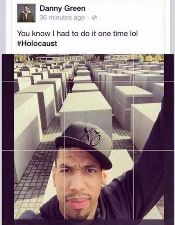 PIC Danny Green's Holocaust Selfie: Fans Outraged Over ...