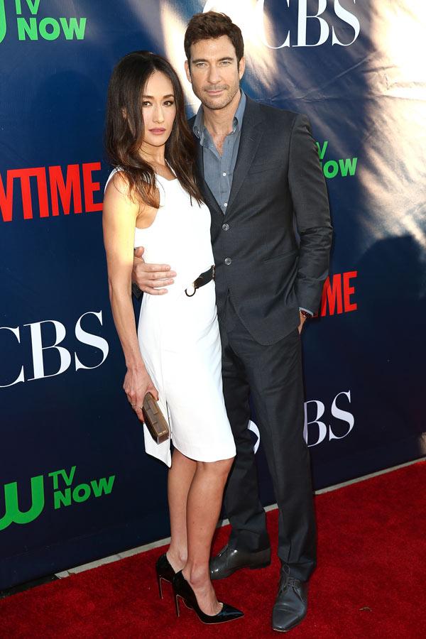 Stalkers Dylan McDermott Dating Co-Star Maggie Q - E! Online