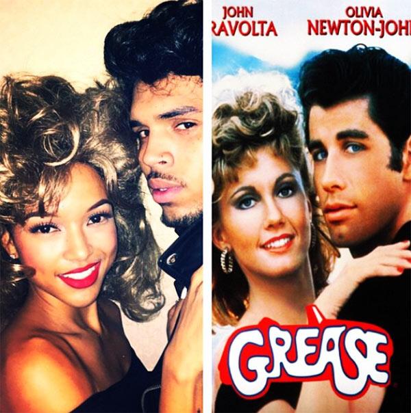 Karrueche Tran Chris Brown Grease Costumes
