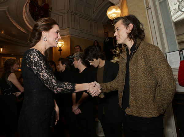 Kate Middleton Meets Harry Styles One Direction