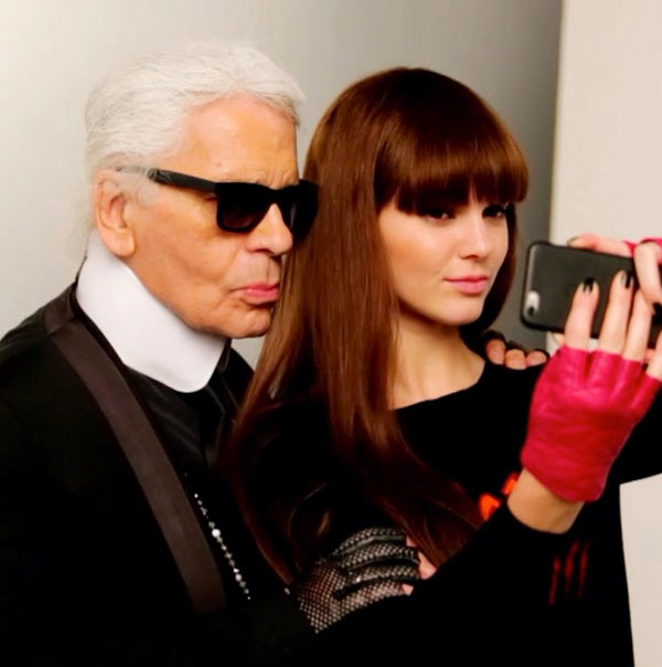 Kendall Jenner Karl Lagerfeld campaign