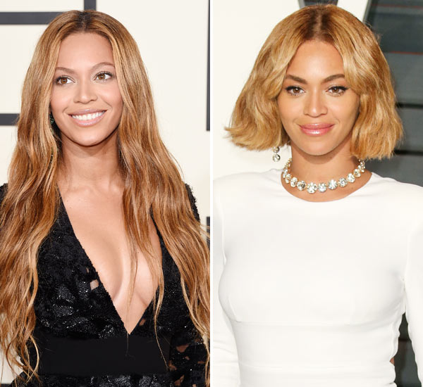 Beyonce At Vanity Fair Party Shows Off New Bob Hairstyle Hollywood Life