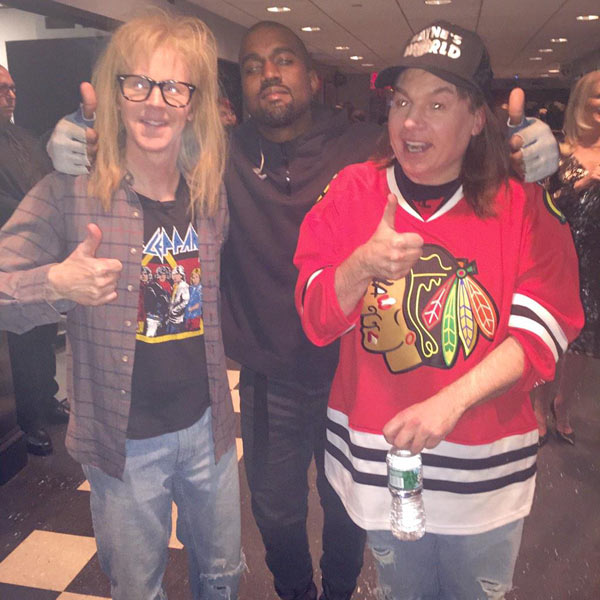 Mike Myers Dana Carvey Disses Kanye West SNL 40th Anniversary