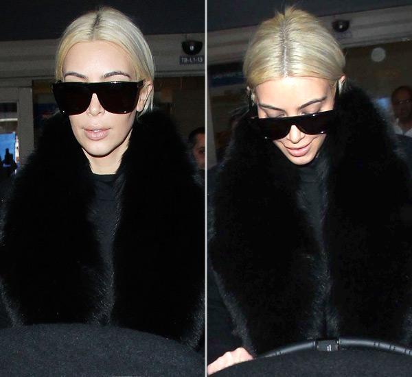 Kim Kardashian Dark Roots