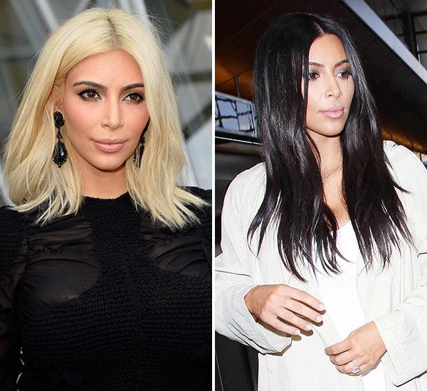 Kim Kardashian Black Hair LAX