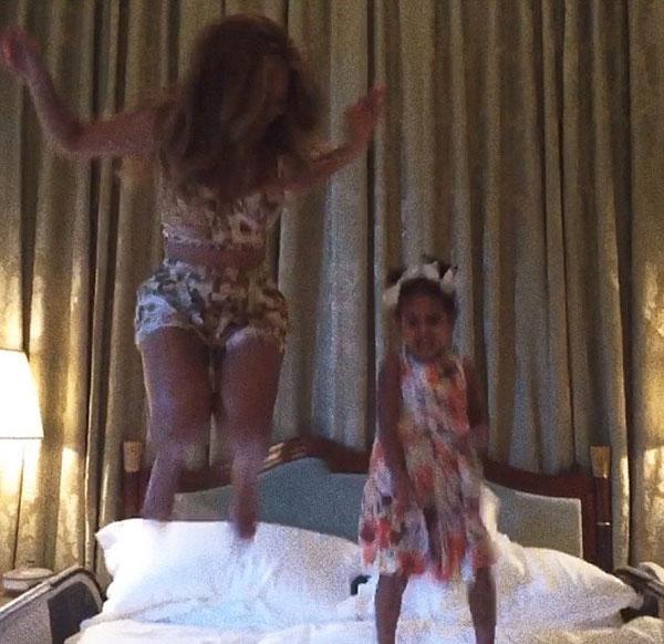 Beyonce Blue Ivy Jump