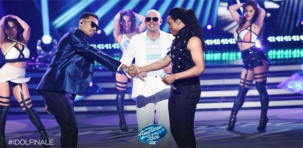 Qaasim Middleton Pitbull Chris Brown American Idol FInale Performance
