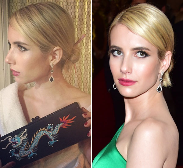 Emma Roberts Wears Chopsticks At Met Gala