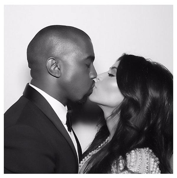 Kany West and Kim Kardashian anniversary