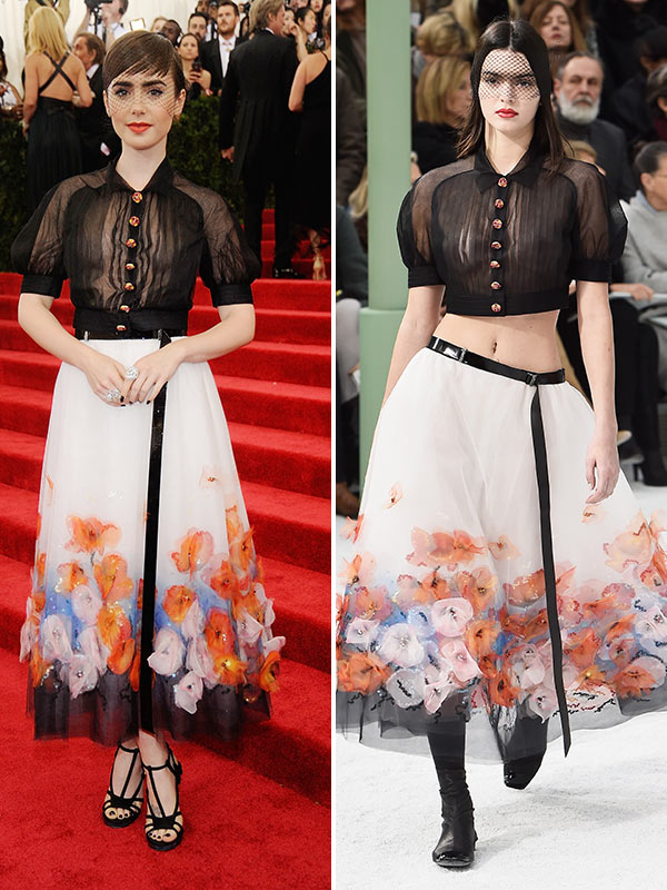 Kendall Jenner Lily Collins Met Gala