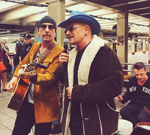 U2 Subway Concert NYC