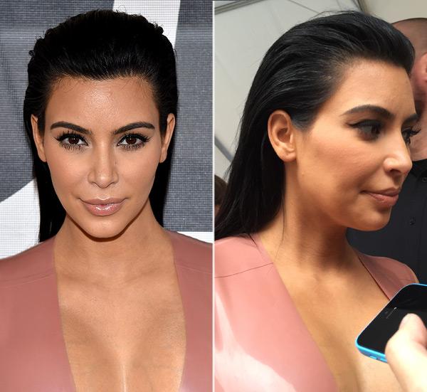 Kim Kardashian Slicked Back Hair