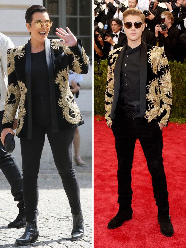 Kris Jenner Wearing Justin Bieber Jacket