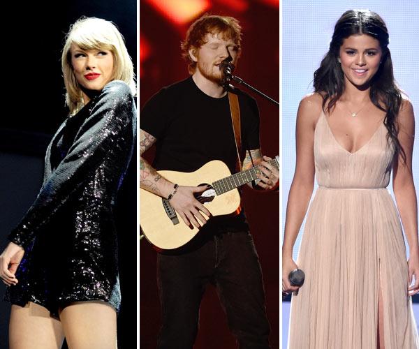 Taylor Swift Selena Gomez Ed Sheeran Music