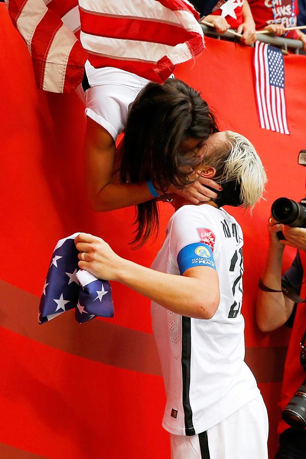 Abby Wambach Kisses Wife