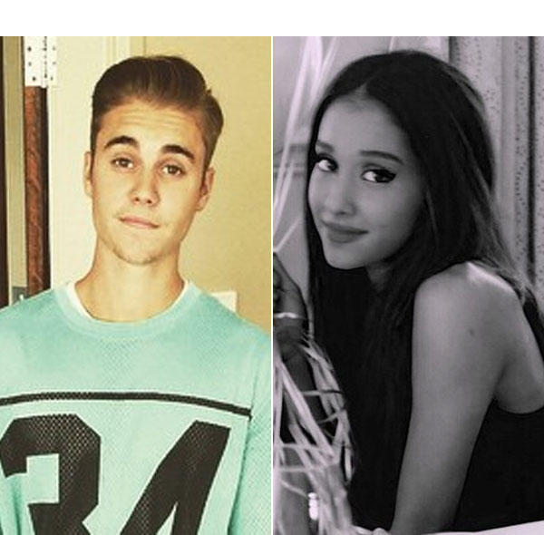 Justin Bieber Supports Ariana Grande