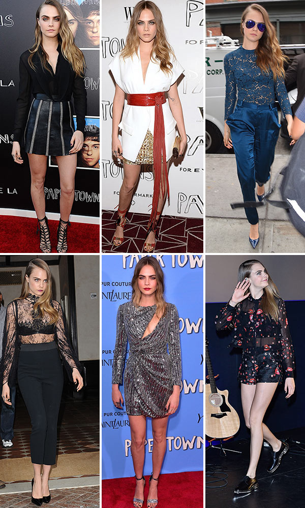 Cara Delevingne Paper Towns Premiere Outfits