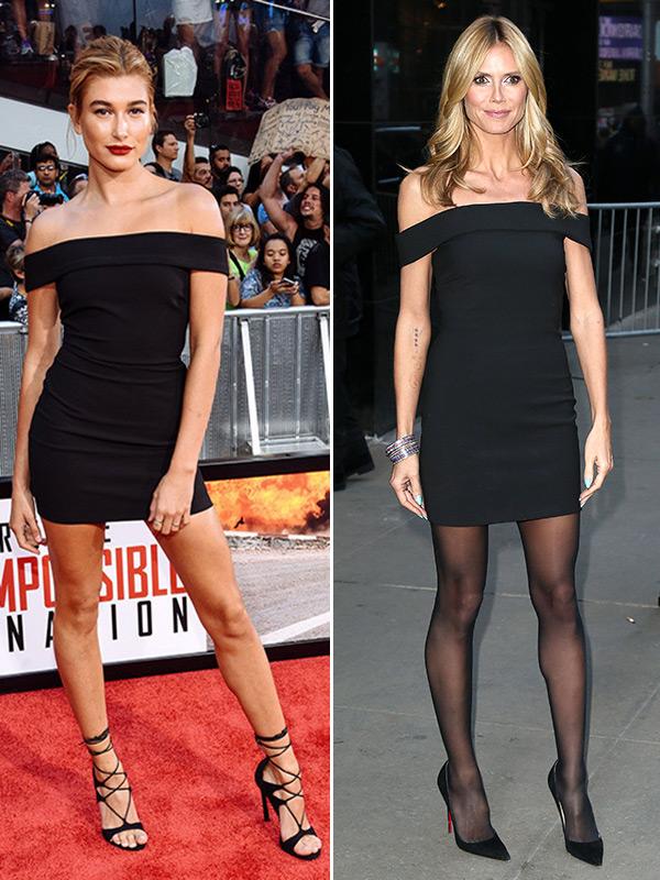 Heidi Klum Black Dress