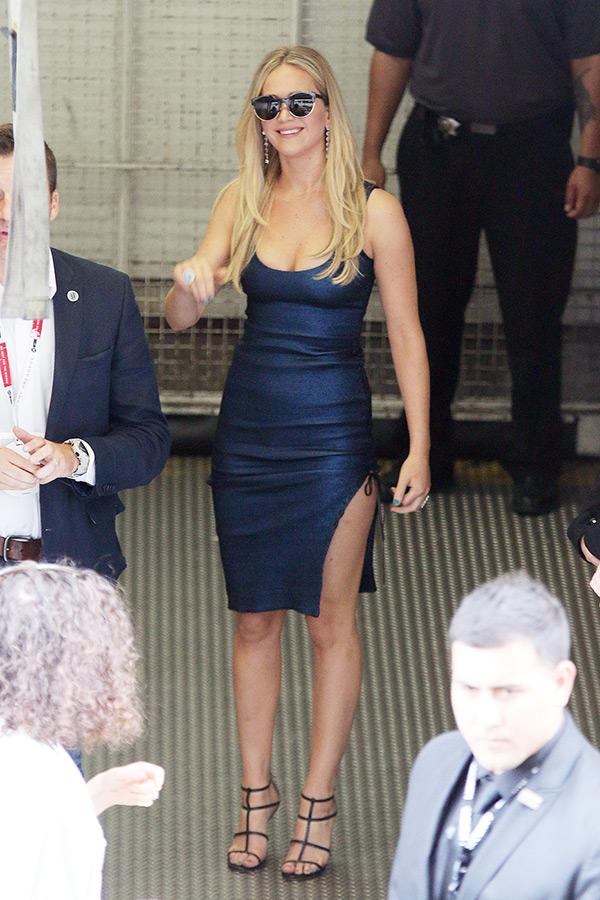 Jennifer Lawrence Blue Dress