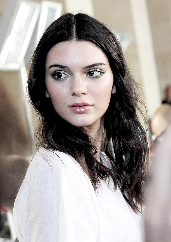 Kendall Jenner Green Eyeshadow Versace
